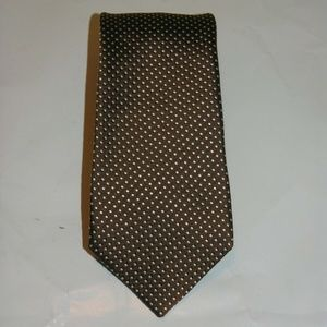 Drakes London Hand Made Silk Long Polka Dot Tie